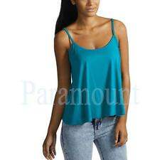 Scoop Neck Viscose Cropped Vest Top, Strappy, Cami Women's Tops & Shirts