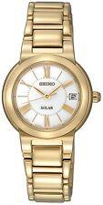 Seiko Solar SUT036P1 Sut036 Ladies Watch Gold Sunlight Charged