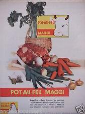 PUBLICITÉ 1958 POT AU FEU MAGGI BOUILLON DE VOLAILLE - ADVERTISING