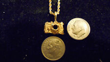 bling gold plated 35mm camera  pendant charm chain Necklace FASHION JEWELRY DIY