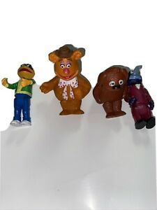 Vintage Muppets Fozzie,Gonzo Skeeter, and Ralph Figures