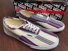 87fdf1badf VANS Authentic Lo Pro Shoes Size 5.0 Women  multi Stripe True White NWB