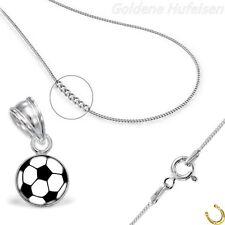 Fussball ANHÄNGER mit KETTE 925 Echt Silber Kinder Geschenkidee