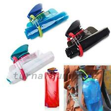 New 700mL Outdoor Foldable Reusable Sport Water Bottle Bag BPA-Free Bicycle