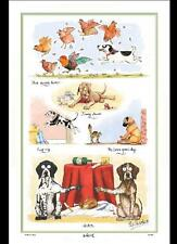 Samuel Lamont UK Pointers Dog Comical Linen Union Tea Towel