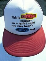 This Is Chevrolet Country Hat You Can Hear A Ford Rust Snapback Trucker Chevy
