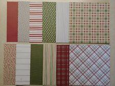 Stampin Up FESTIVE FARMHOUSE Designer Series Paper, 12 Sheets 6x6 DSP- PLAIDS