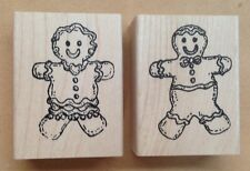 Mounted Rubber Stamps, Sets, Seasonal, Christmas Stamps, Gingerbread Man & Girl