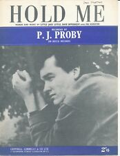 Hold Me - P. J. Proby  - 1964 Sheet Music