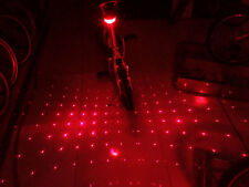 US 2x 5LED 2Laser Bicycle Bike Red Beam Rear Lights Safety Tail Lamp Babysbreath