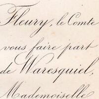 Maurice Paul De Waresquiel 1875 Mathilde Louise Dugon
