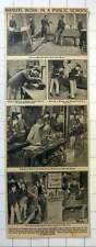 1922 Harrow Boys Building Boats, Engineering Workshop, Lathe Work, Benches