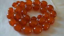 Antique Authentic Amber Butterscotch Honey Knotted Graduated Bead Necklace