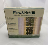 Plow and Hearth Star Curtain Lights 128 LED Lights