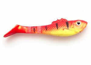 Soft lures x 8 pcs, 80 mm long shads - perch, pike, zander, kopyto, duck fin