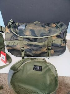 The North Face Base Camp Duffel Small Camouflage 50L New