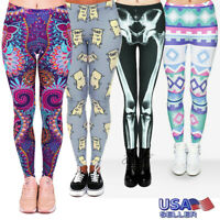 Women Casual Printed Yoga Fitness Leggings Gym Stretch Sports Pants Trousers Hot
