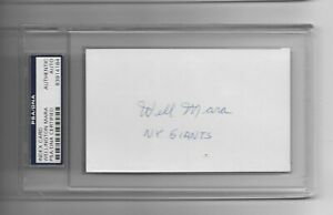 Wellington Mara Autographed 3x5 Index Card Giants Team Owner PSA/DNA