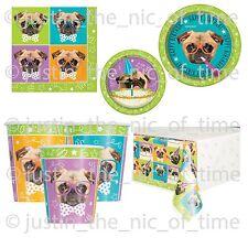 Pug Puppy Birthday Girls Boys Party Supplies Tableware