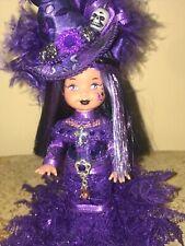Kelly Halloween Holiday Doll WITCH Purple dress Skull - Bat - Cross OOAK Barbie