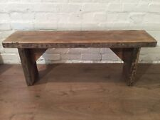 HandMade Old 1900s Reclaimed Pine Rustic Wooden Vintage Beams Dining Chair Bench