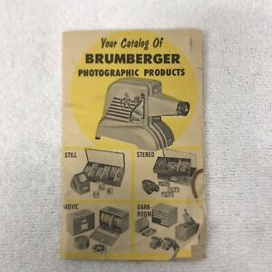 Vintage Blumberger Photographic Products Catalog