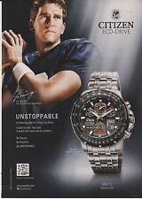 Lot of 2 Mint Print Ads Citizen Eco-Drive Watch Eli Manning New York Giants