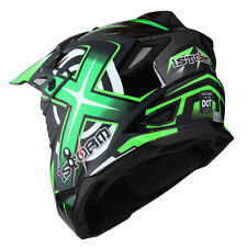 1Storm Adult Motocross Helmet Motorcross ATV MX BMX Dirt Bike Racing Green