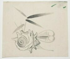 Sea Shells : Original Meiji Japanese Woodblock Print - Gyokusho