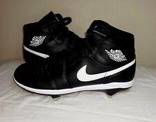 Air jordan 1 Mcs Baseball Cleats Metal Spikes Black Size 11