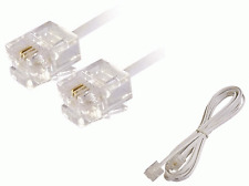 New 3m RJ11 2-Core ADSL Broadband Modem Internet Router Telephone Fax Cable #307