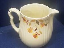 """Vintage Hall's Superior Jewel Tea Autumn Leaf Pitcher 7"""" high."""