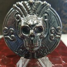 4.29 ozt Hand Poured .999 silver Bullion Round Insane skull