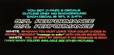 5.7L Performance Outline Series Fits Chevy, Ford, Dodge 1500 Ram Hood Decals