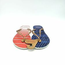Havaianas American Flag Print Flip Flops Womens 11/12 Red White Blue
