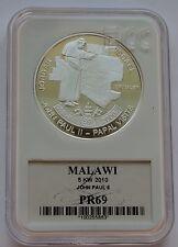 5 Kwacha Malawi 2010 John Paul II Papal visits JORDAN ISRAEL 2000