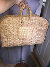 extra large lightweight classic straw hand beach tote bag