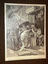 Venditore di maschere a Pompei Quadro del professore Cesare Mariani
