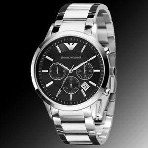 Emporio Armani Herrenchronograph Datum Armbanduhr AR2434 Neu mit Box