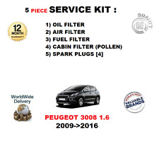 pour Peugeot 3008 1.6 2009- >2016 FILTRES KIT DE SERVICE AVEC