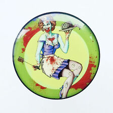 VINTAGE ZOMBIE PIN UP GIRL PLUG ACRYLIC SCREW FIT FLESH TUNNEL EAR STRETCHER