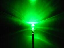 (10 PCS) Green 10mm LED Pre Wired Light 12V 20cm Bulb DC 9v 5v 6v