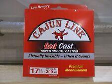 Cajun Red Cast fishing line 17 lb test 300 yards red Nip