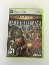 Call of Duty 3 -- Gold Edition (Microsoft Xbox 360, 2007) Complete