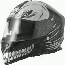 VCAN V127 HOLLOW MAN MATT BLACK MOTORBIKE FULL FACE HELMET PLUS 2 FREE GIFTS S