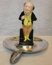 Good Antique Royal Doulton Mr Pickwick Silver Plated Ashtray Epns Perfect