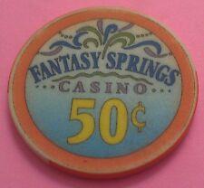 FANTASY SPRINGS CASINO ~ 50-CENT CASINO CHIP ~ INDIO, CALIFORNIA ~ 1995 ~ LINEN?