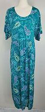VTG Diane Von Furstenberg Color Authority Dress - Size L / XL ? - Teal Paisley