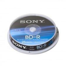 1x10 SONY BD-R Blu-Ray Discs 25GB 1x6x Cakebox 10BNR25BSP NEU (world*) 003-444