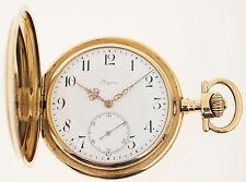 LONGINES TASCHENUHR IN 14ct GOLD - ALTER: UM 1900 - 107 GRAMM GESAMTGEWICHT